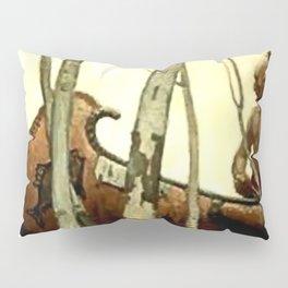 "N C Wyeth Vintage Western Painting ""Birchbark Canoe"" Pillow Sham"