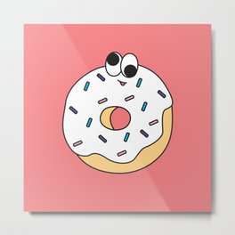 Goofy Foods - Goofy Donut Metal Print