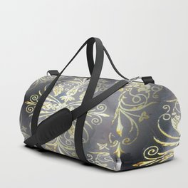 Golden Diamond Motifs Duffle Bag