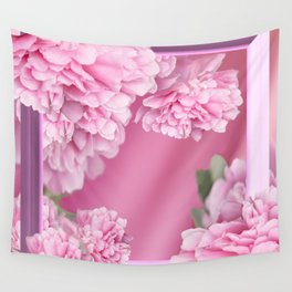 Pink Peonies In Frame #decor #society6 #buyart Wall Tapestry