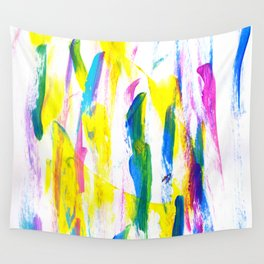 Paint Smears Colorful Abstract Wall Tapestry