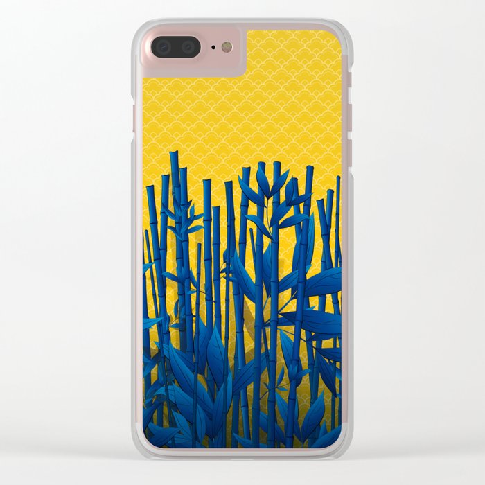 Blue Bamboo Clear iPhone Case