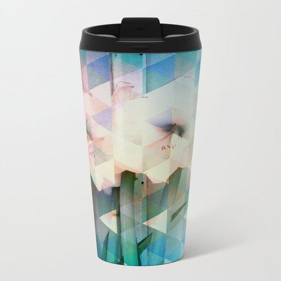 Flowers Mosaic Metal Travel Mug