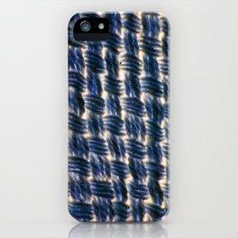 Macrame Square Knots: Colbalt-Blue Version iPhone Case