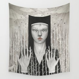 Forest Girl Wall Tapestry