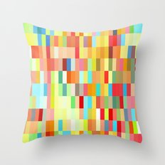 colorful rectangle grid Throw Pillow