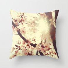 Spring light Throw Pillow