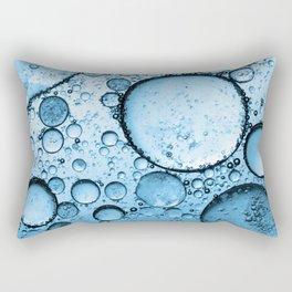 Blue Bubbles Rectangular Pillow