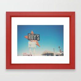 Roys Motel & Cafe ... Framed Art Print