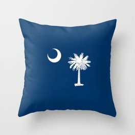 flag south carolina,america,us,Savannah,Palmetto,Carolinian,cotton,Confederate,Goose Creek,Rock Hill Throw Pillow