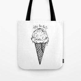Hi la la ! Ice Cream Cone Tote Bag