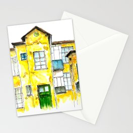 Watercolor old Bulgararian house Stationery Cards
