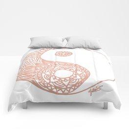 Rose Gold Yin Yang Comforters