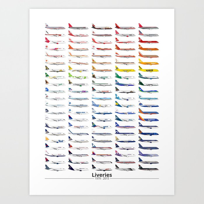 Liveries (by color) Art Print
