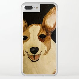The Winston - Corgie Clear iPhone Case