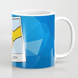 See you later Bitcoin on blue facets Coffee Mug