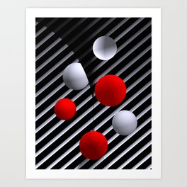 opart balls -4- Art Print