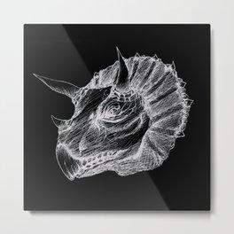 Triceratops negative drawing Metal Print