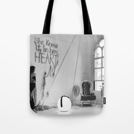 She Knew It In Her Heart, Silk Graffiti by Aubrie Costello Tote Bag