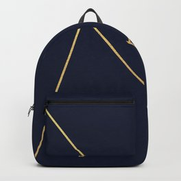 Geometric Collection (Blue & Gold) Backpack