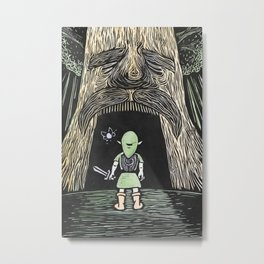 Enter the Deku Tree Metal Print