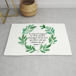 Be Strong and Courageous Joshua 1:9 | Christian Art Rug
