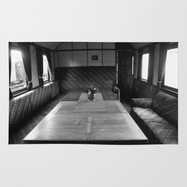 Old train compartment 4 Rug