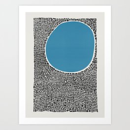 Abstract Blue Lake Art Print