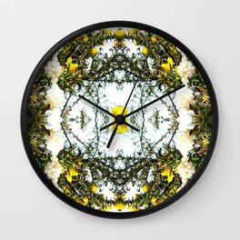 Beauty Among Thorns Wall Clock