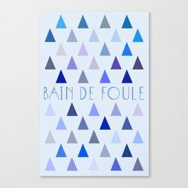 Bain de Foule. Canvas Print