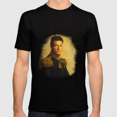Jean Claude Van Damme - replaceface Black LARGE Mens Fitted Tee