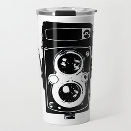 Big Vintage Camera Love - Black Travel Mug