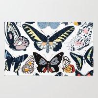 wildlife Area & Throw Rugs featuring London Wildlife by Hanna Melin