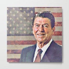 Patriot Ronald Reagan Metal Print