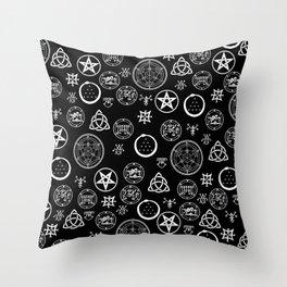 Occult Noir Throw Pillow
