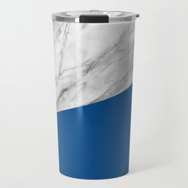 Marble and Lapis Blue Color Travel Mug