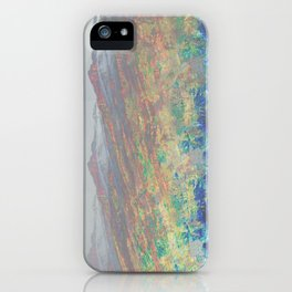 fiery mountains iPhone Case