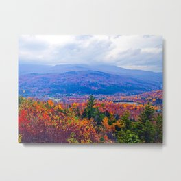 Brilliant Fall Colors at Ira Mountain in Kingfield, Maine (2) Metal Print