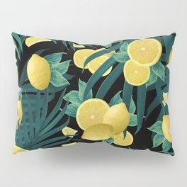 Summer Lemon Twist Jungle Night #1 #tropical #decor #art #society6 Pillow Sham