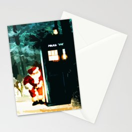 Keep Watching The Tardis Light Stationery Cards
