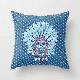 Shaman skull Throw Pillow