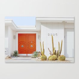 Orange Door in Palm Springs Canvas Print