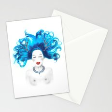 Dreamy girl Stationery Cards