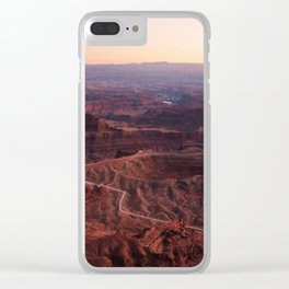 Moab Canyons Clear iPhone Case