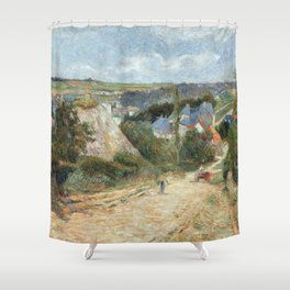 Entrance to the Village of Osny by Paul Gauguin Shower Curtain