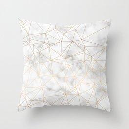 Marble Gold Geometric Texture Throw Pillow