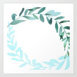 Watercolor Olive Branchs Art Print