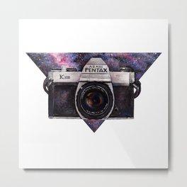 Pentax K1000 (Purple Nebula) Metal Print