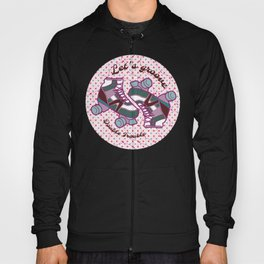 Let's Groove Roller Derby Dots White Hoody