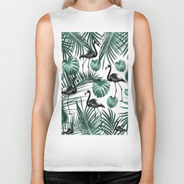 Tropical Flamingo Pattern #6 #tropical #decor #art #society6 Biker Tank